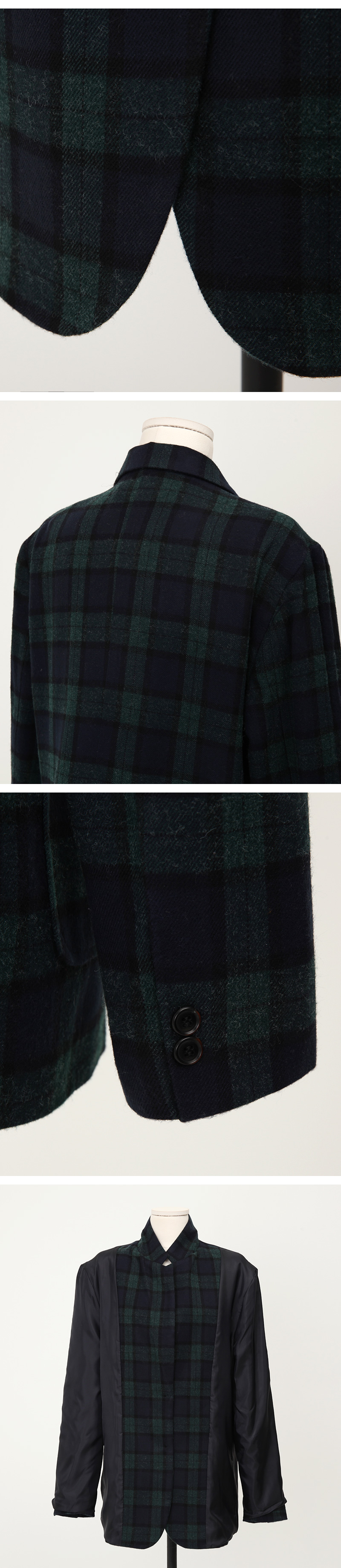 Gent wool check jacket_Y (size : free)