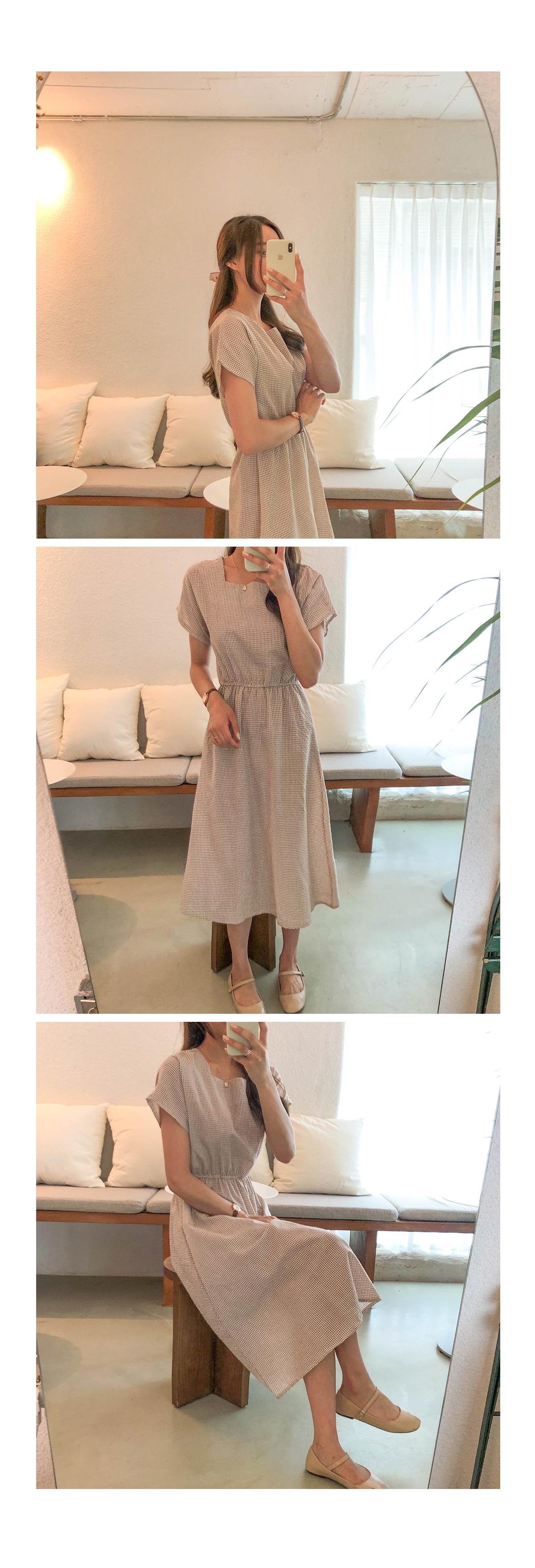 Check Lulu Square Dress
