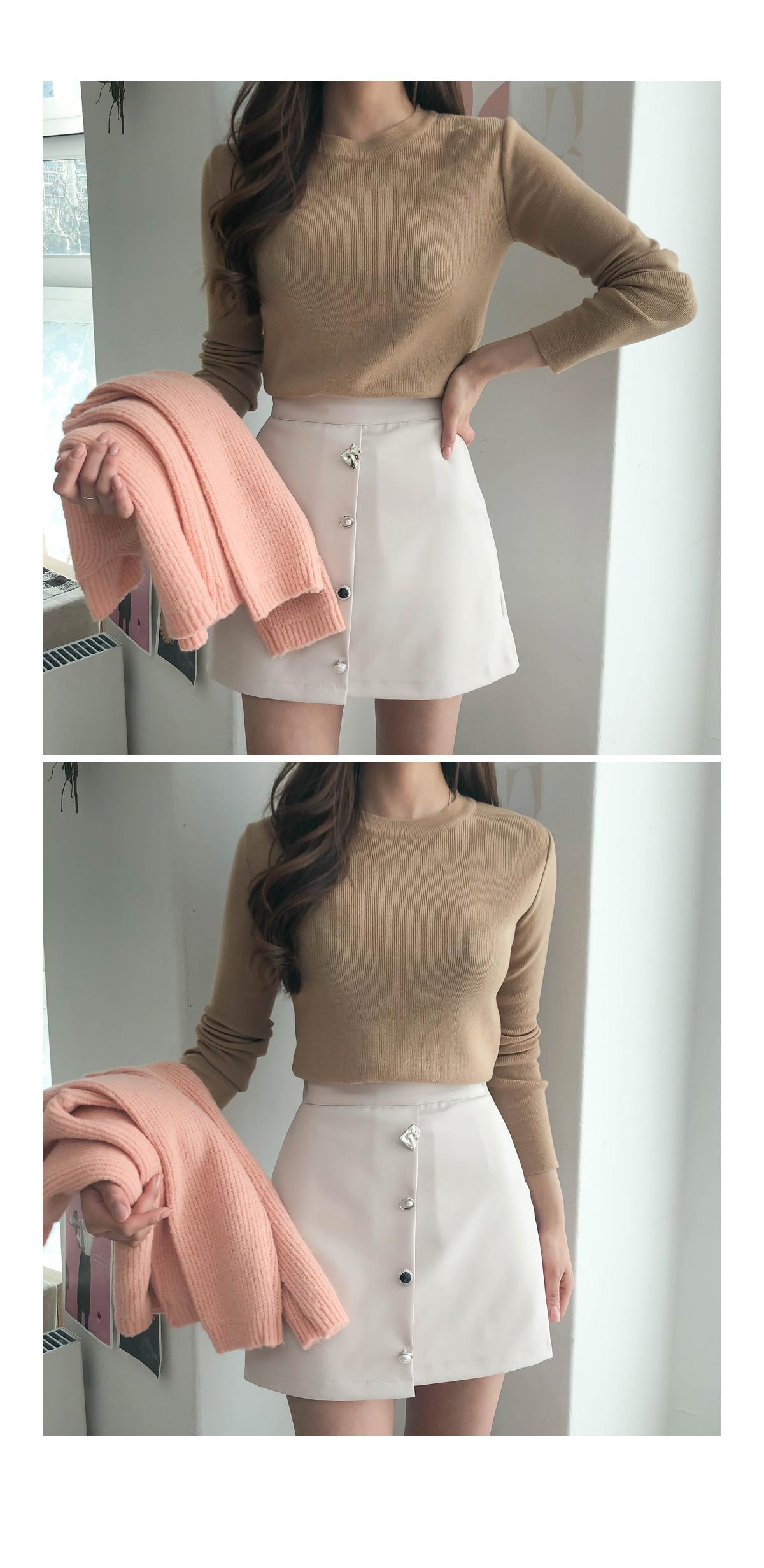 Pastel heim round knit