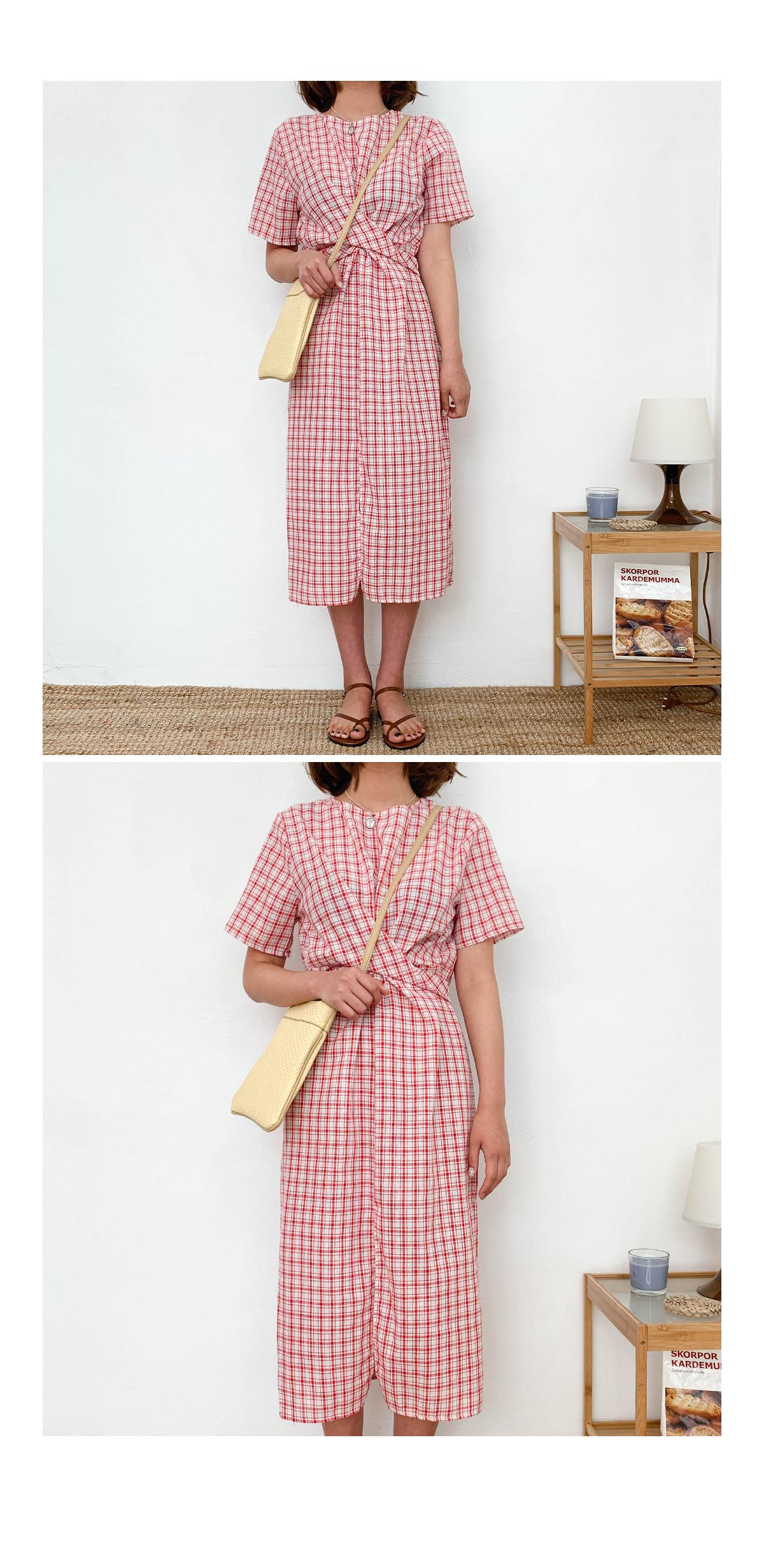 Linen Jam Jam Check Long Dress