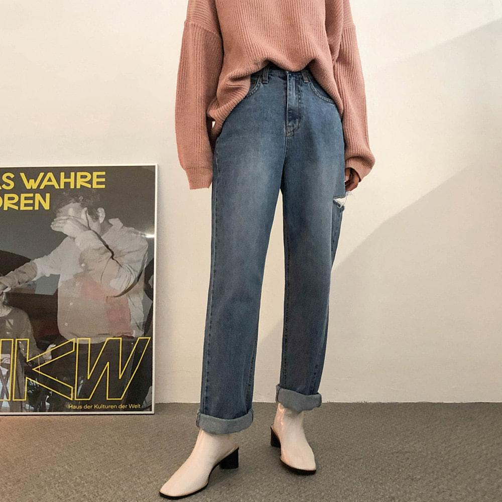 Trim wide pants