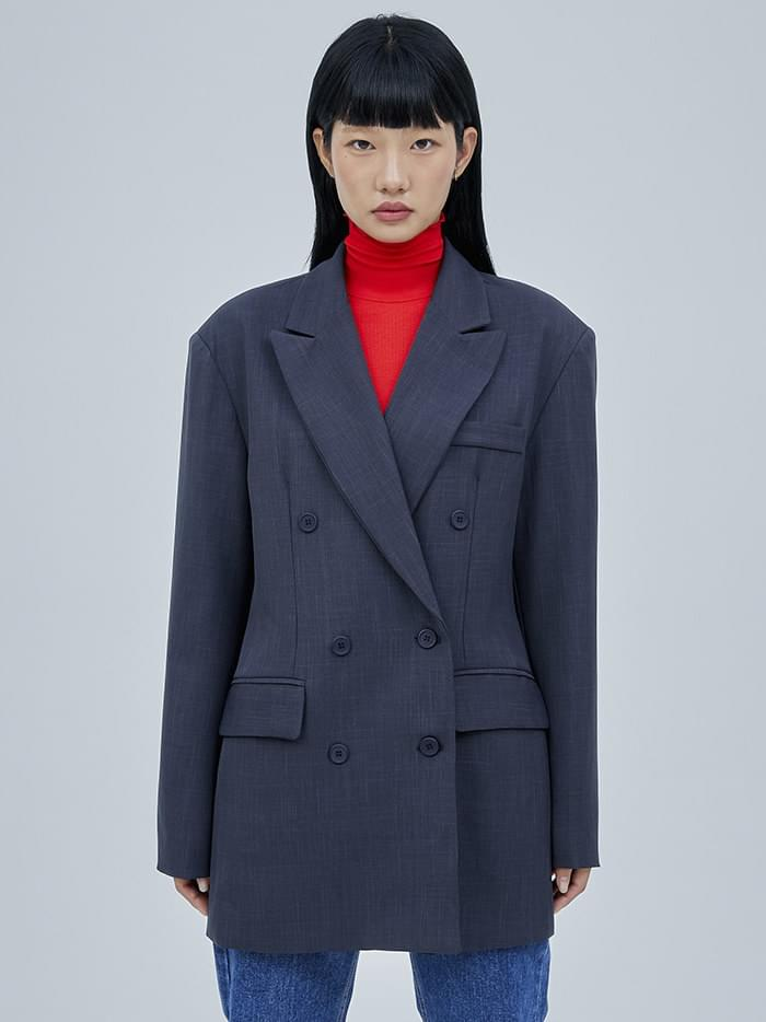 plain double jacket - woman