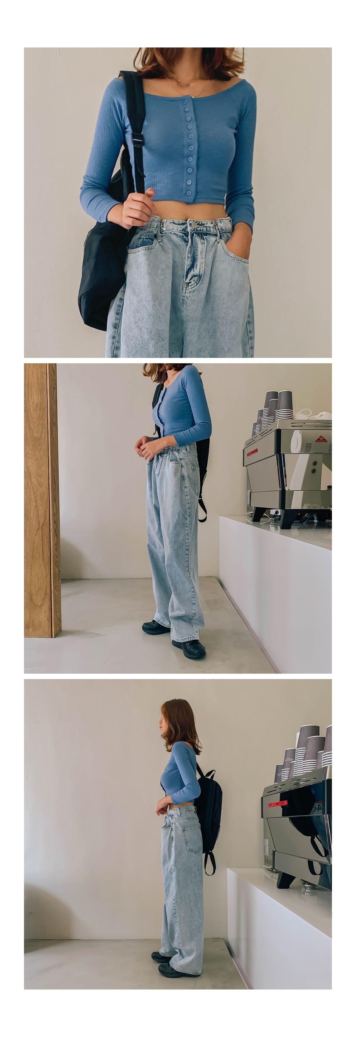 Cropped haute T-shirt & cardigan
