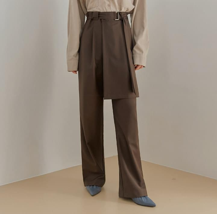 MODINE WRAP BELT LONG SLACKS