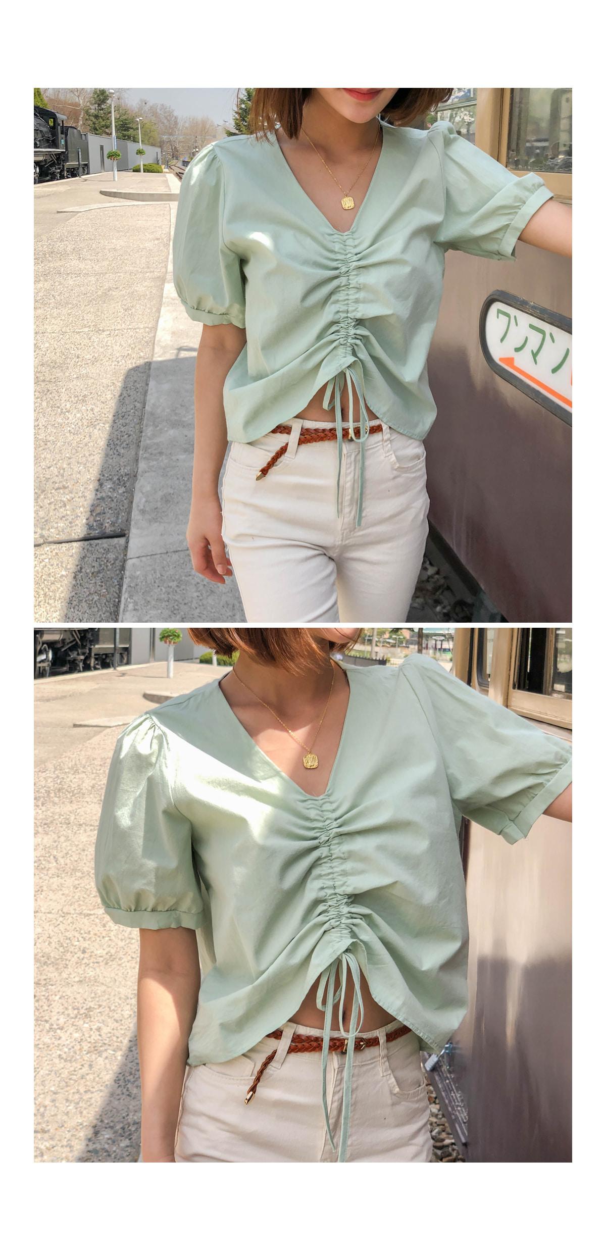 Shirring Ritz string blouse