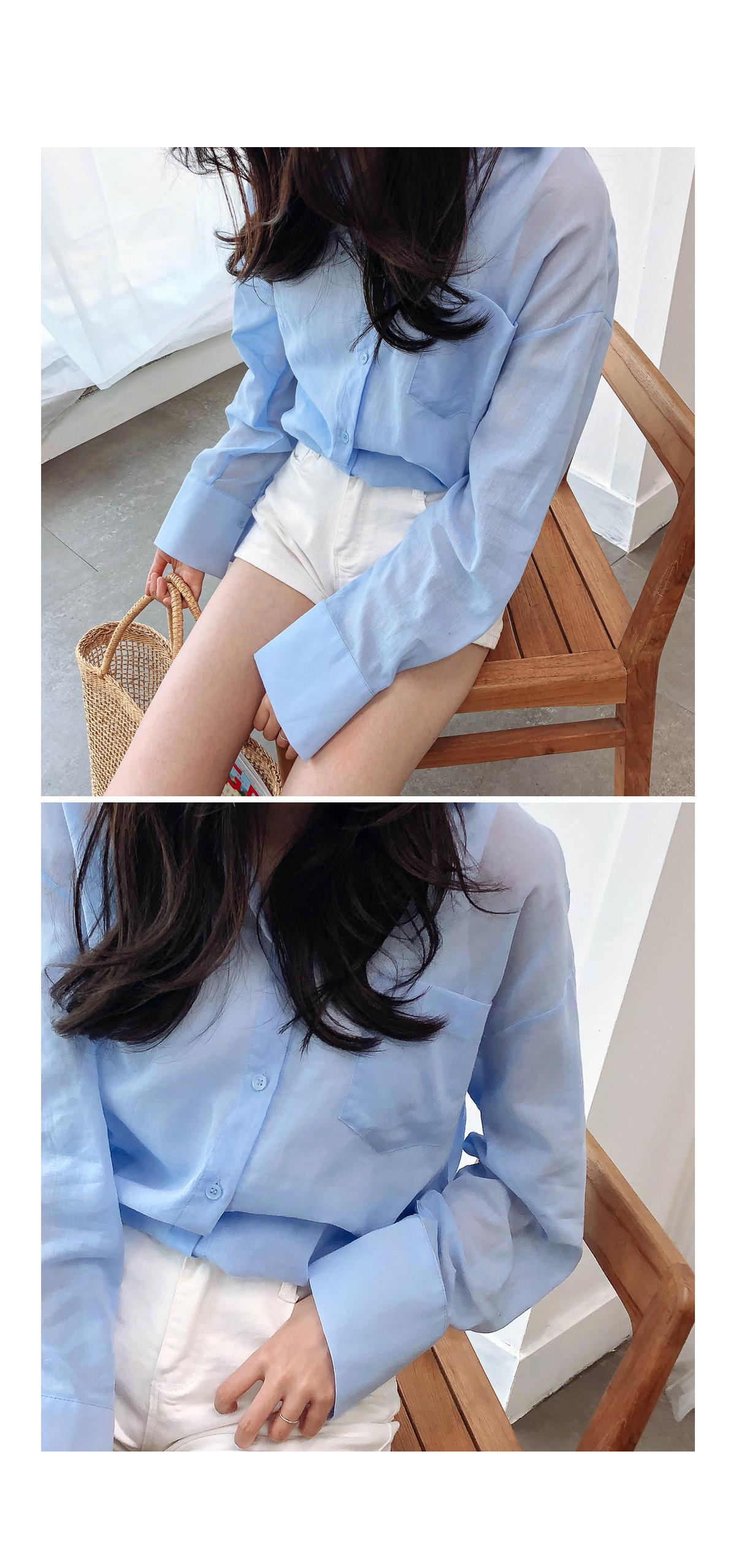 Loose fit linen shirt