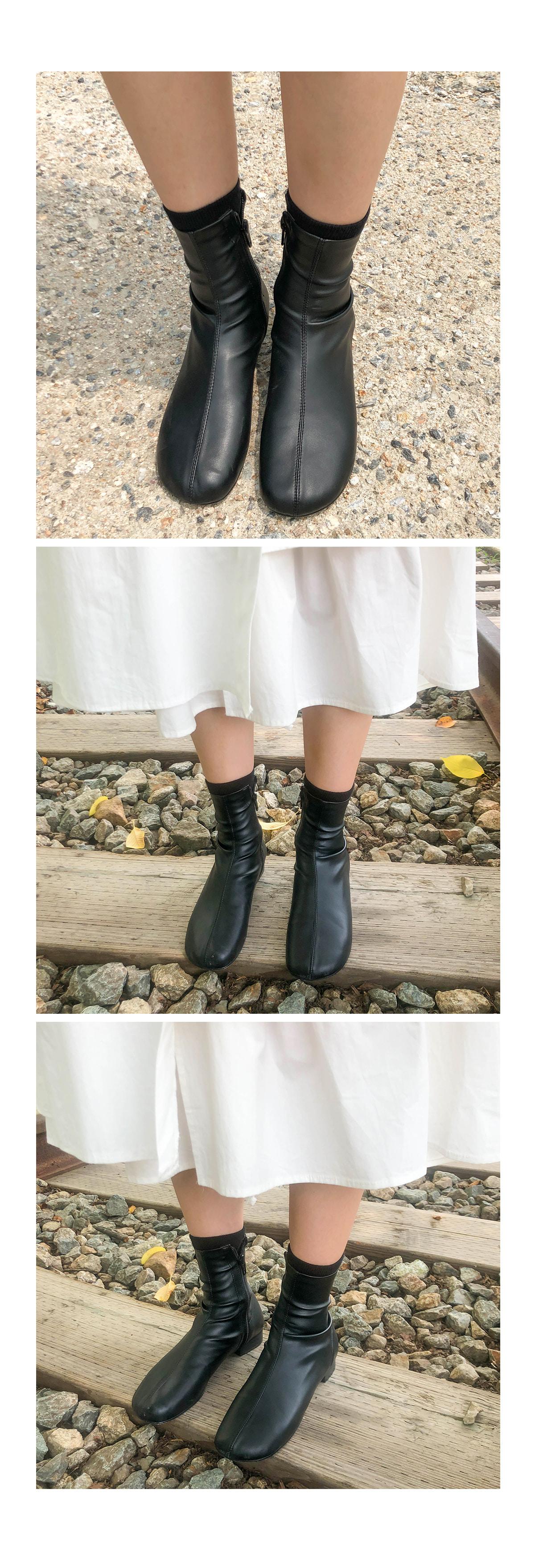 Round Vovian Angle Boots