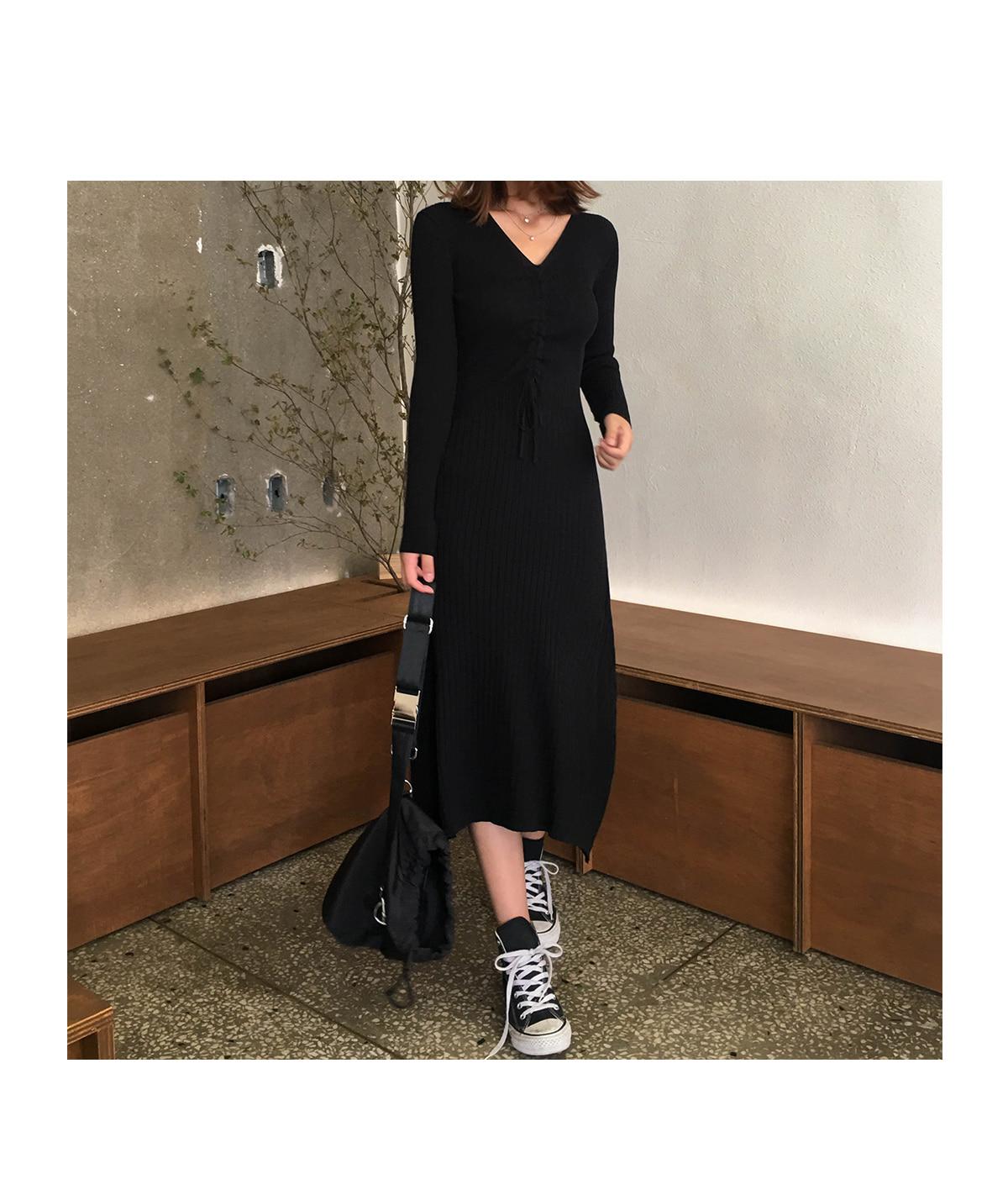 Shirring AID Nilong Long Dress