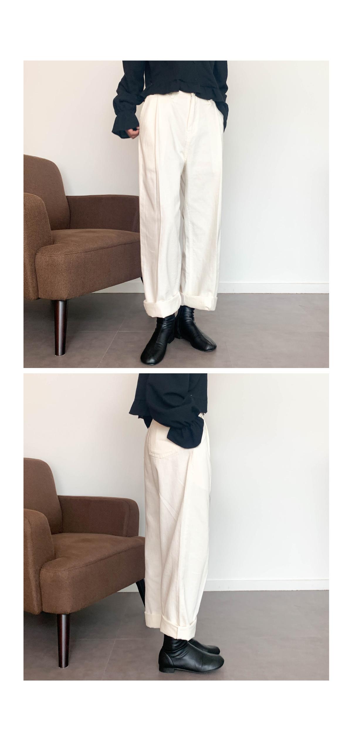 Pintuck Bien Wide Pants