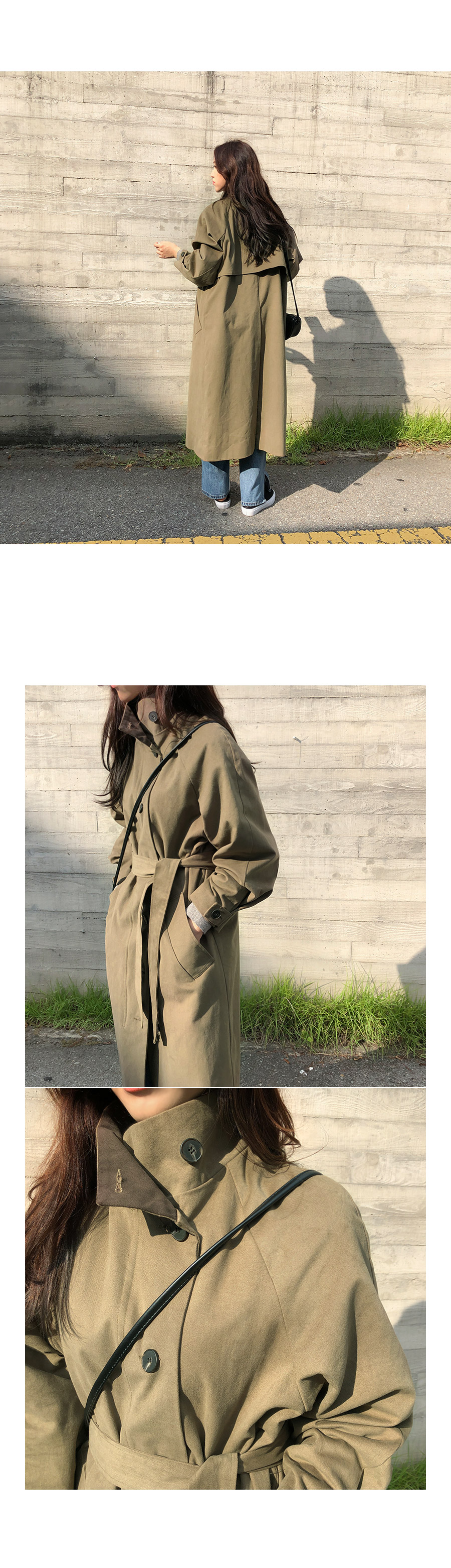 Trench head coat