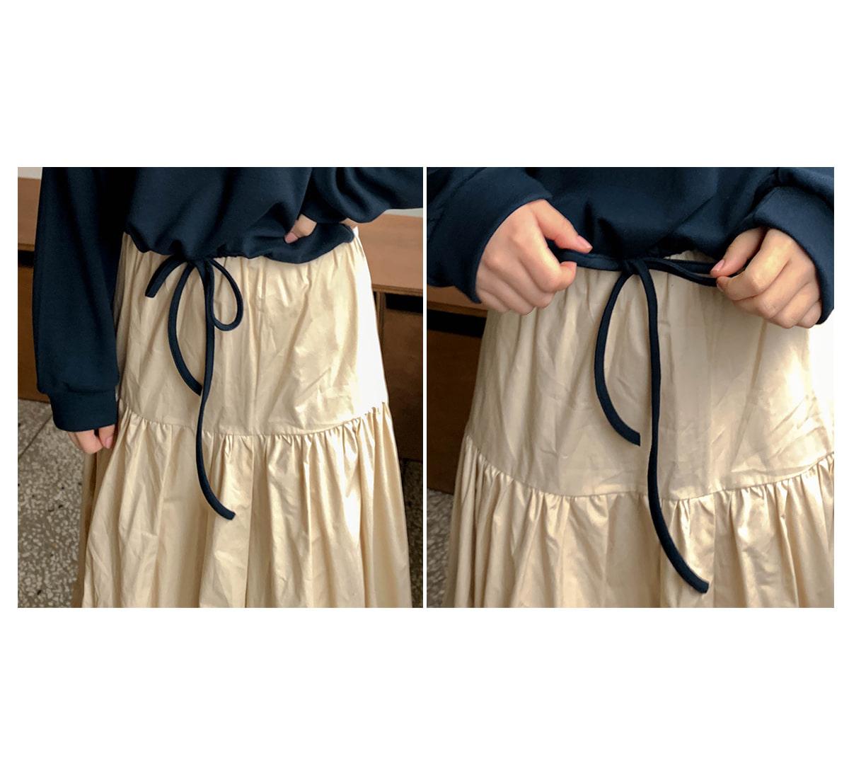 Shirring Lodi Long Skirt
