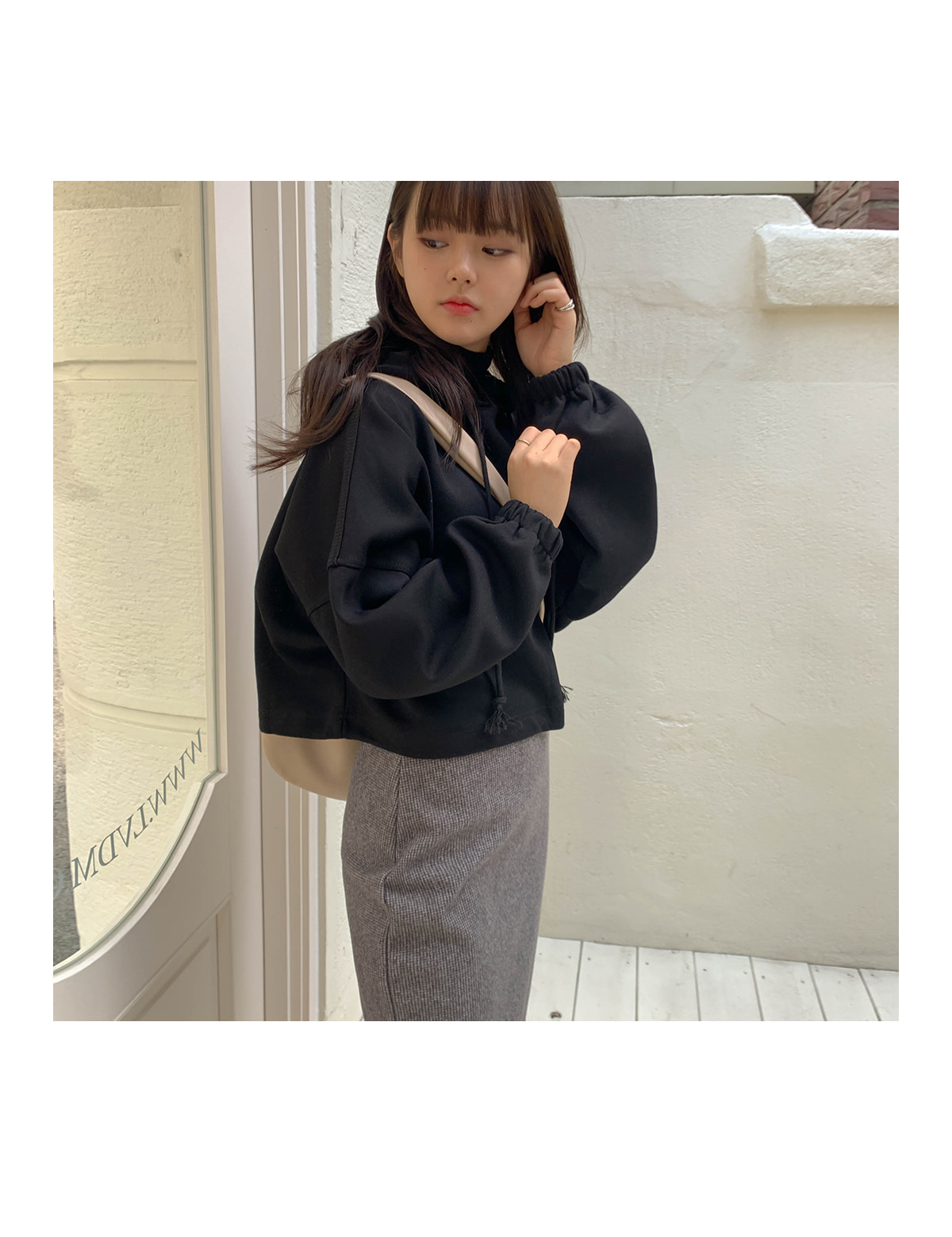 Loose-Fit K Hooded T-shirt