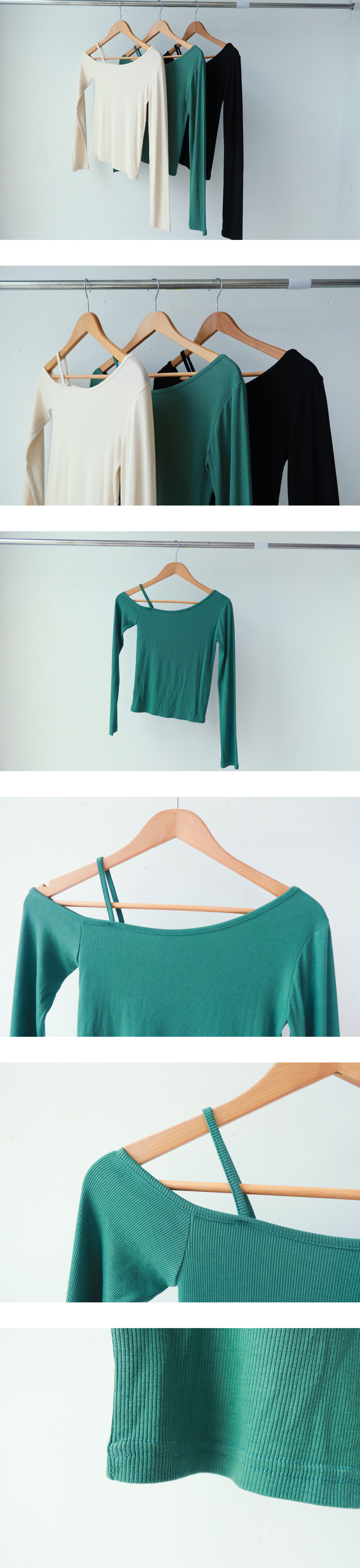 Unfooted Off Shoulder T-shirt
