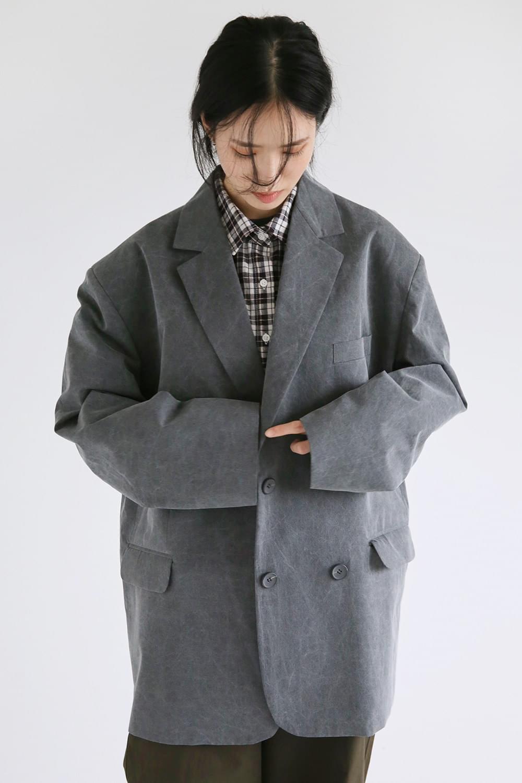 fabric washing wide jacket