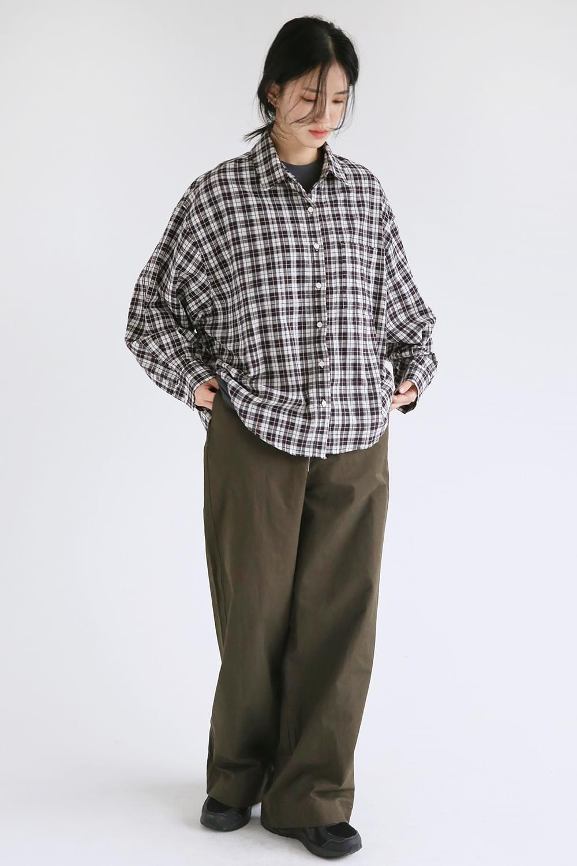 cozy boy check shirts (2colors)