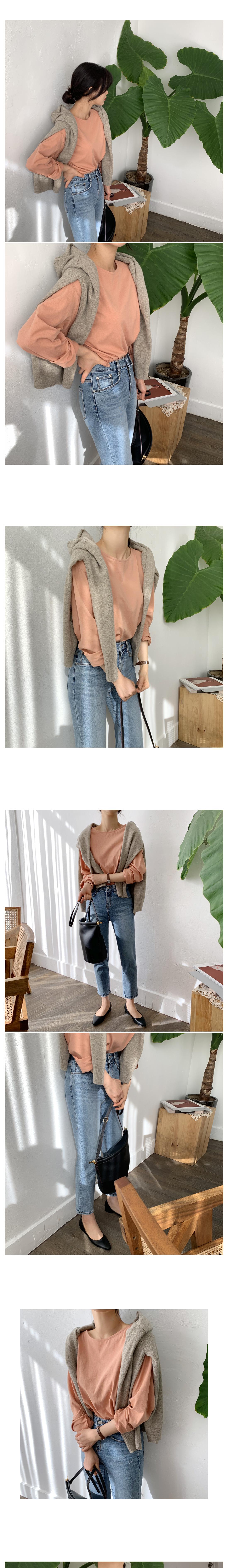 8-part slim straight pants