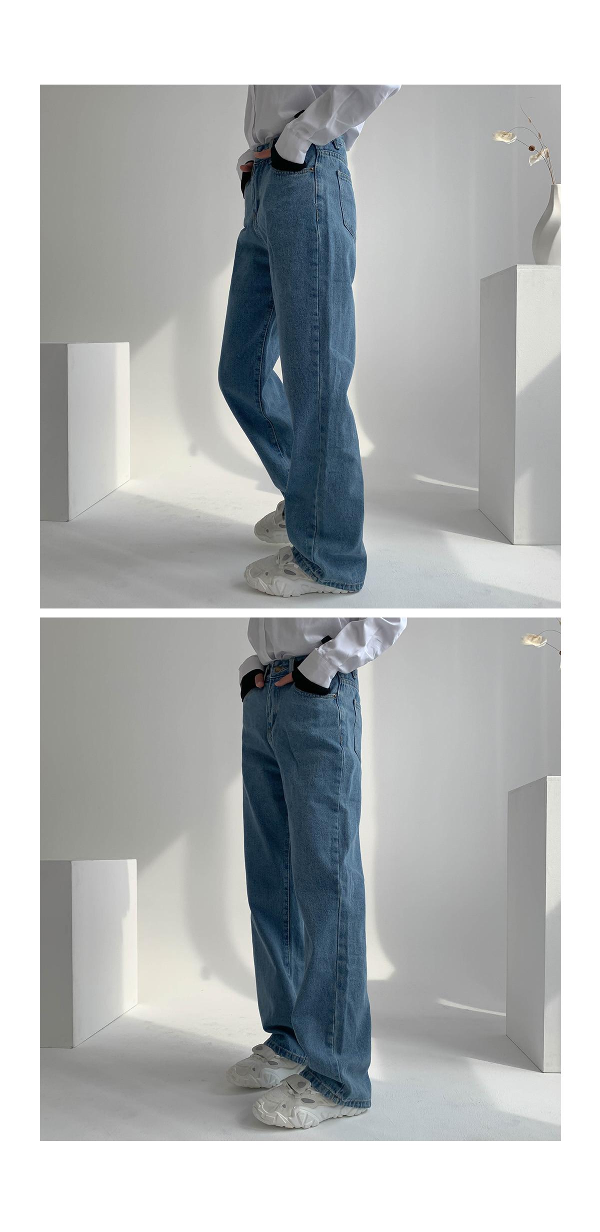 Velcro rover wide denim pants