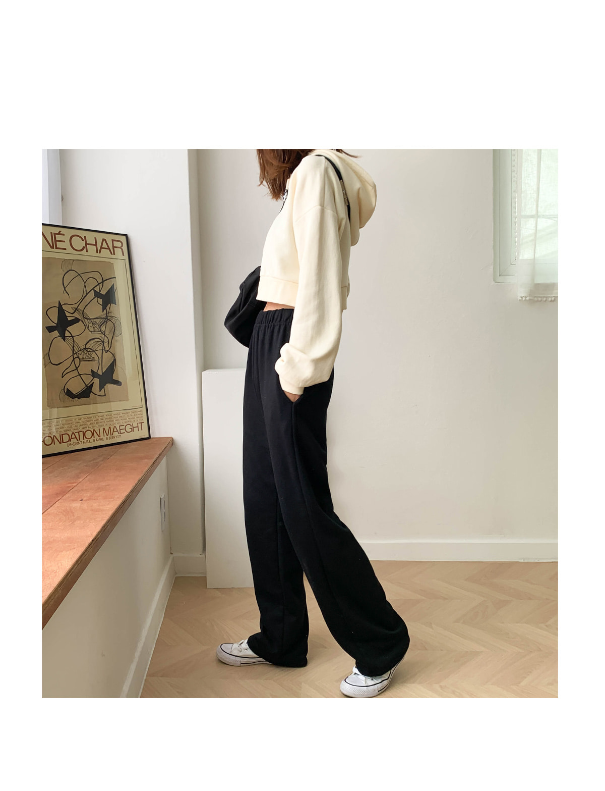 Cropped Roy Hooded T-shirt