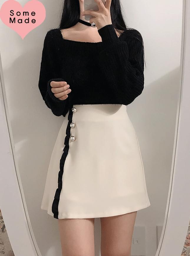 Self-made ♥ yellow pearl skirt
