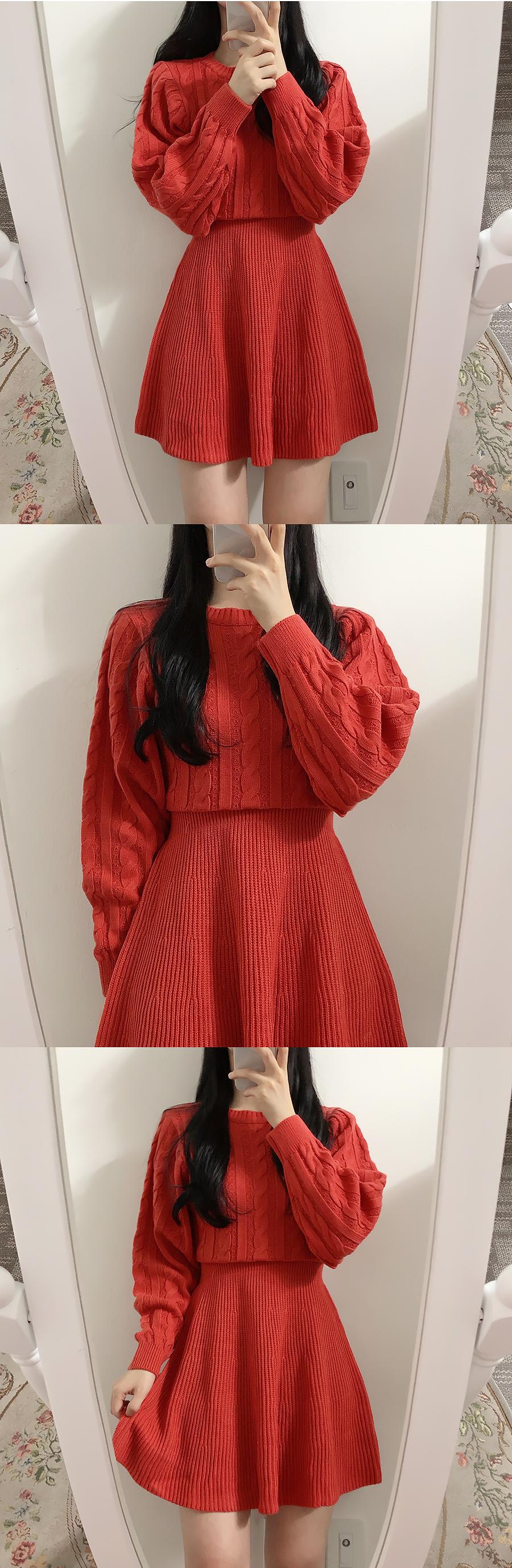 Pretzel Slim Knit Dress