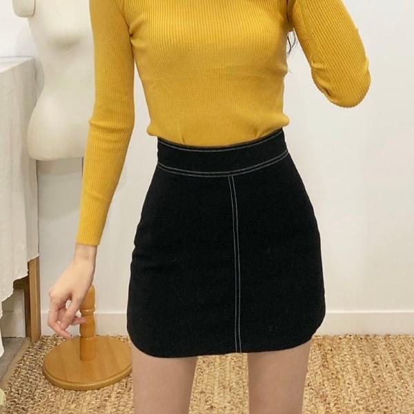 Austin Stitch A-line Mini Skirt