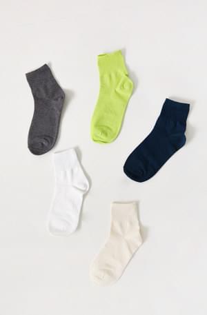 Point plain socks
