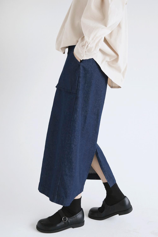 straight cotton long skirts