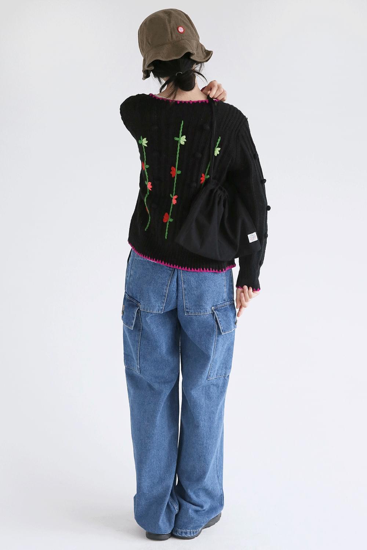 unisex cargo denim pants