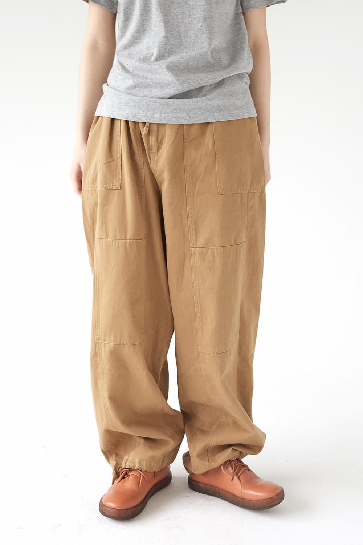 banding jogger maxi pants