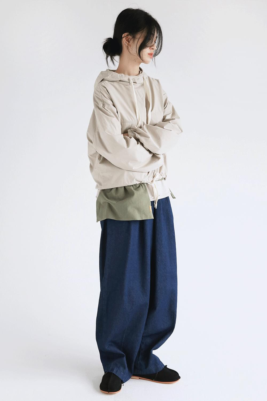 two pocket hood anorak