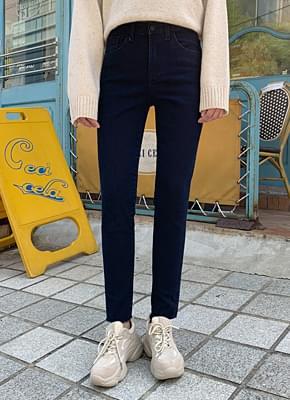 Slim brushed pants