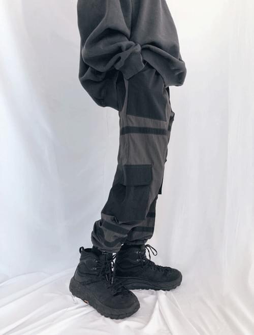 Color rabbar string pants
