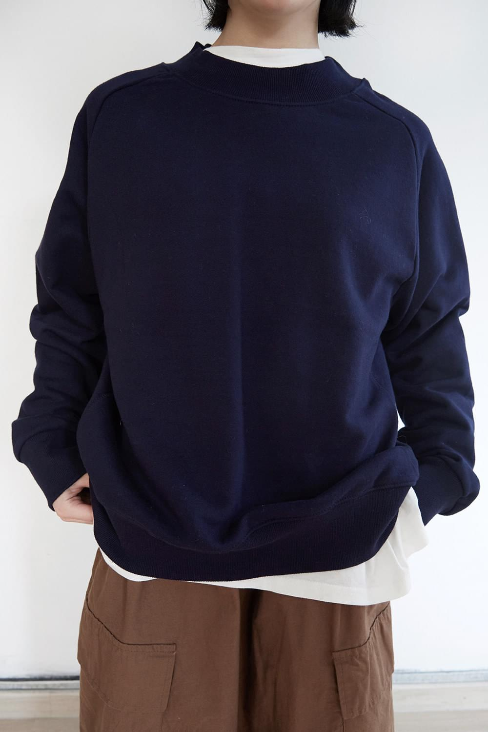 texture block basic sweatshirts