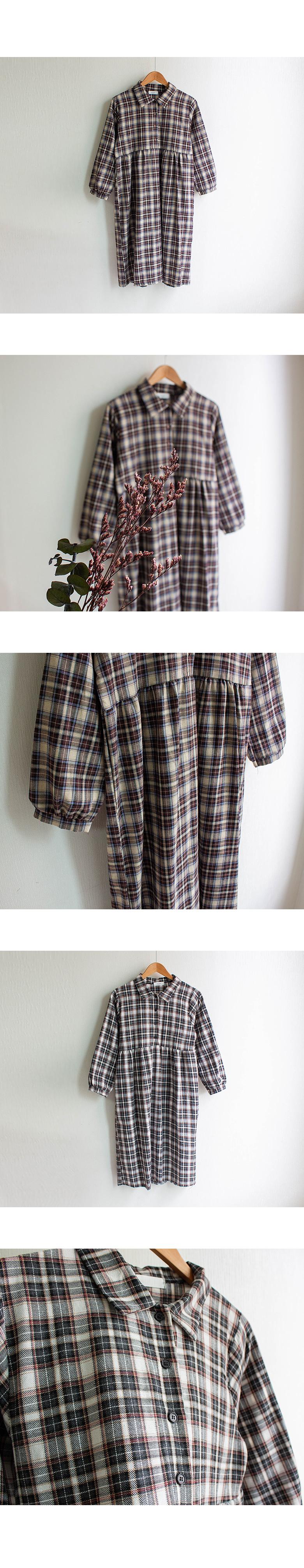 Beira Kara Check Long Dress