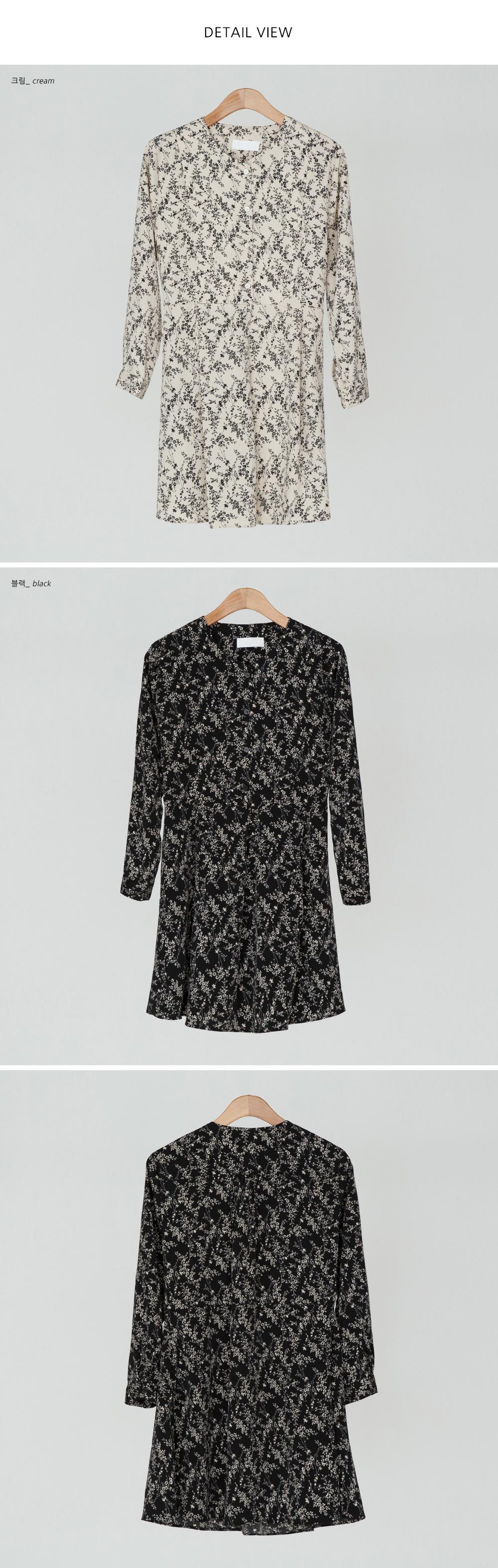 A-Line Flower Mini Dress-ops