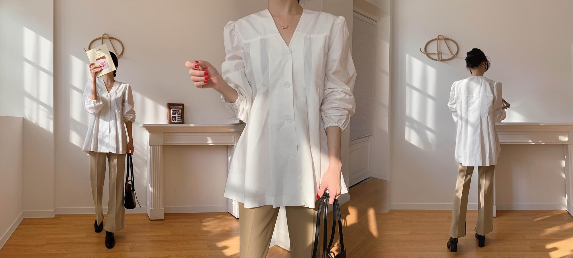 Pierre pleated blouse