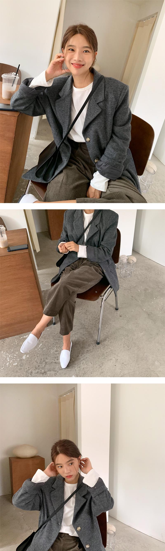 Bay wool button jacket_J (size : free)