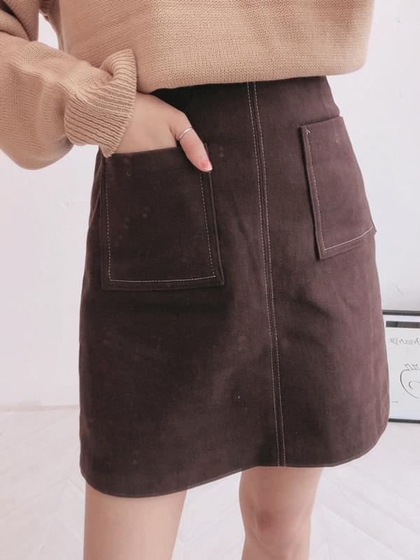 Soda point pocket skirt
