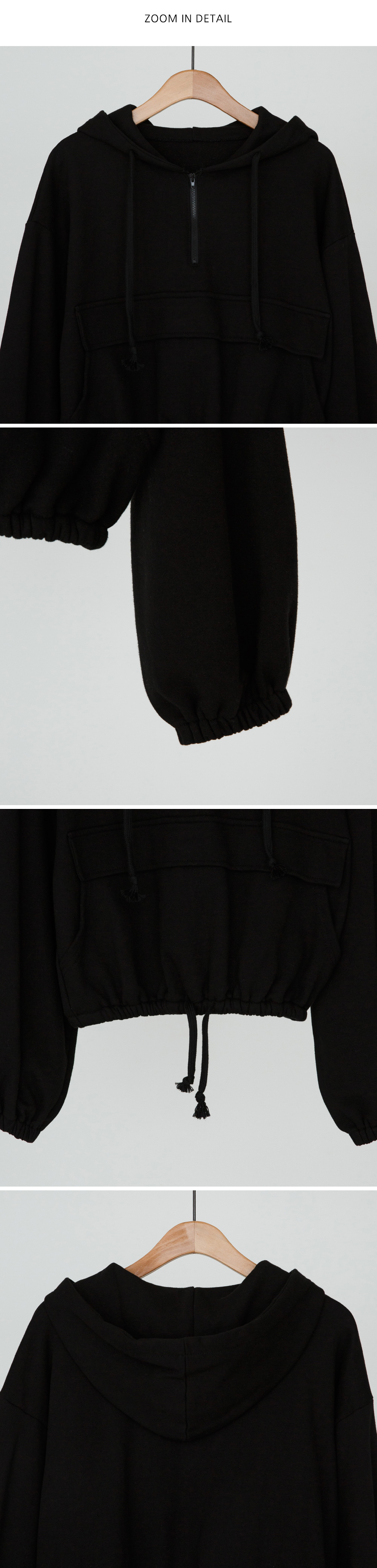 Half Zip-up Hooded man-to-man-mtm