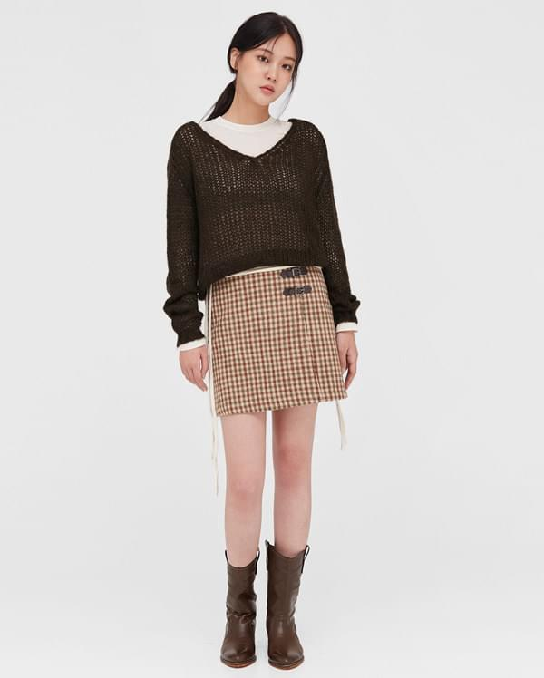 warm wool v-neck knit