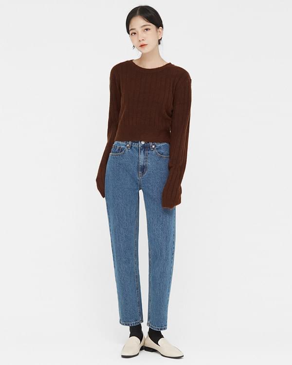 porter straight denim pants