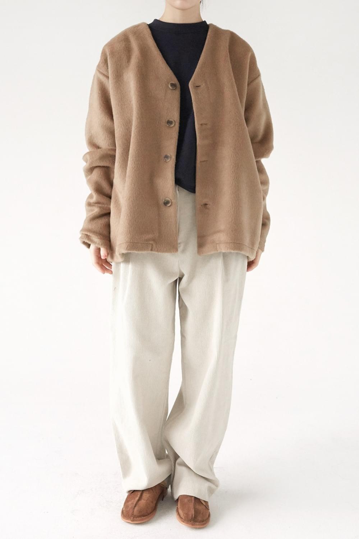 mohair texture loose cardigan