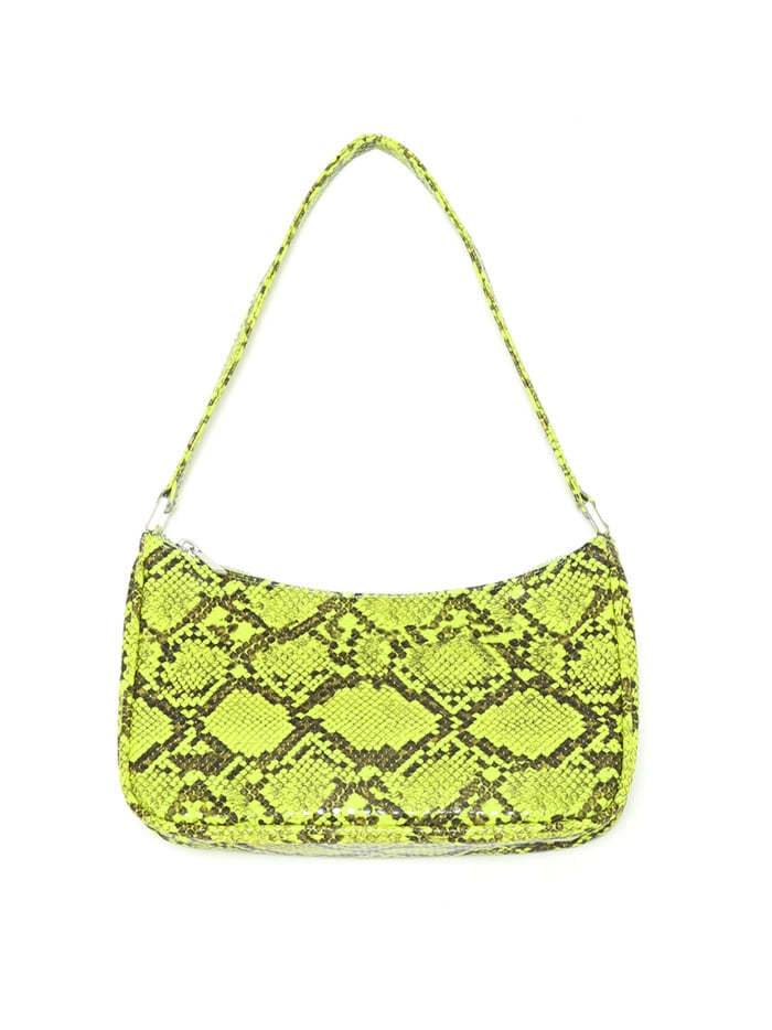 neon python leather line bag
