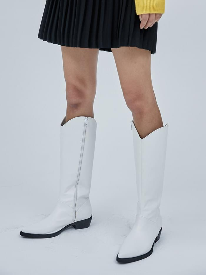 western leather long boots (2 color)
