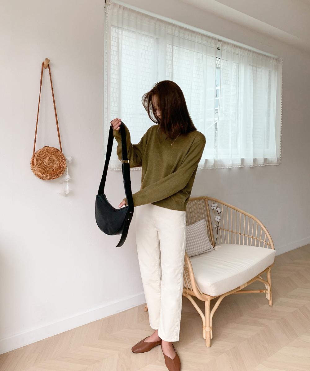 trendy half moon bag