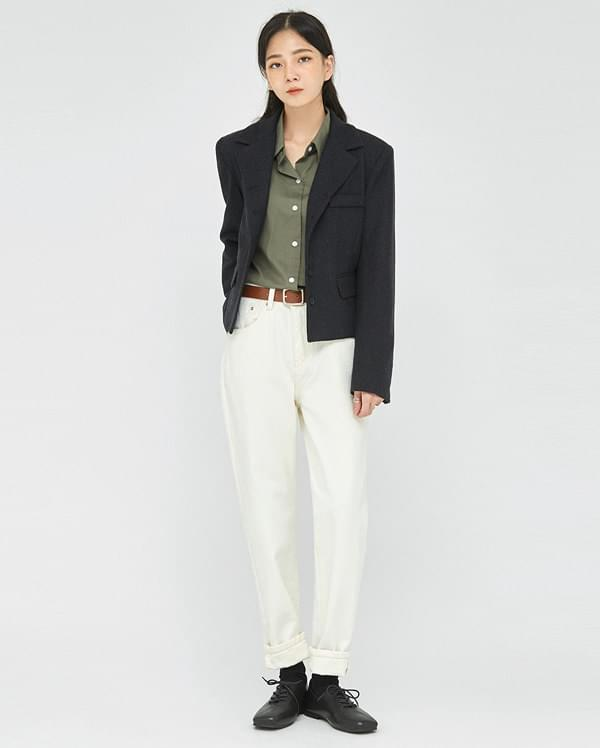 mood wool short jacket
