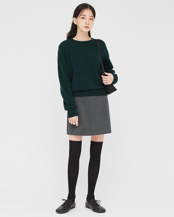 thick check mini skirts