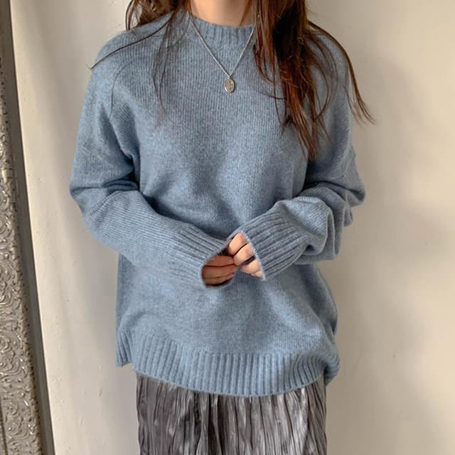 Cashmere fvy round knit