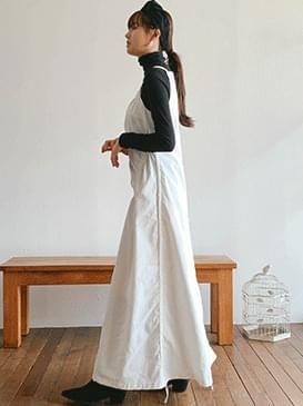 Peach Aesop Shirring Long Dress