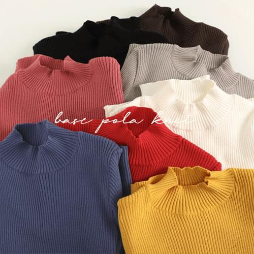 Base corrugated half pole knit 針織衫